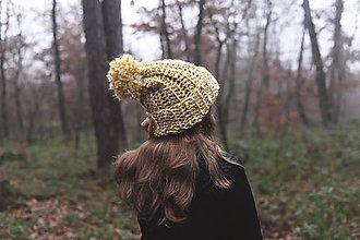 Čiapky - Žltá čiapka - 10107224_