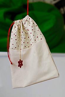 Úžitkový textil - Zerowaste vrecúško na Mikuláša - 10105922_