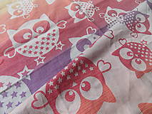 Textil - Natibaby Magical Owls Rainbow Love - 10104627_