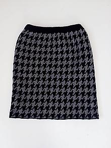 Sukne - Pletené sukne - 10106701_