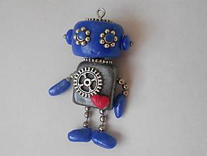 Kľúčenky - kľúčenka robot modrý - 10108131_