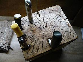 Pomôcky - drevený nožový organizér maximum - 10107560_