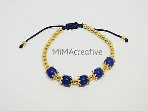Náramky - NAR5002 náramok s lapis lazuli - 10104593_