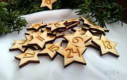 Hviezdičky na adventný kalendár