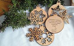 Malá sada vianočných ozdôb s personalizovaným prianím