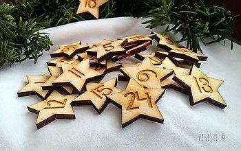 Dekorácie - Hviezdičky na adventný kalendár - 10107515_