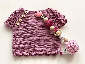 Detské oblečenie - Svetrík SeaShell (3 - 6 mesiacov) - 10104841_