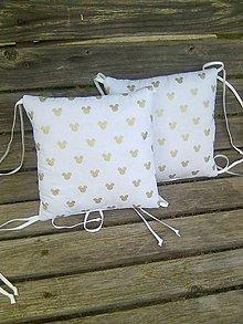 Textil - zlaté uškové 30 x 30 - 10106050_