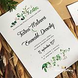 Papiernictvo - Svadobné oznámenie ~Natural Rozmarin~ - 10105614_