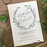 Papiernictvo - Svadobné oznámenie ~Natural Oliva~ - 10105811_