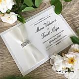 Papiernictvo - Svadobné oznámenie ~Crystal crema~ - 10105876_