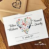 Papiernictvo - Svadobné oznámenie ~Natural Love~ - 10105903_