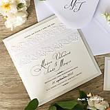 Papiernictvo - Svadobné oznámenie ~Čipka Kocka~ - 10105936_