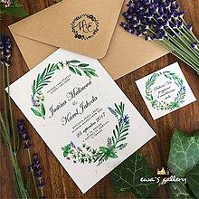 Papiernictvo - Svadobné oznámenie ~Natural Levandula~ - 10105660_