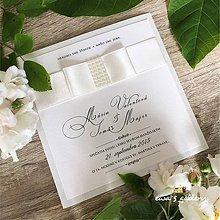 Papiernictvo - Svadobné oznámenie ~Perla crema kocka~ - 10105845_