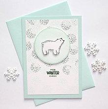 Papiernictvo - Vianočná pohľadnica Warm winter wishes - 10106457_