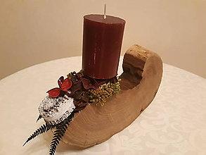 Svietidlá a sviečky - Svietnik Rustic bordo - 10105188_