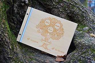 Papiernictvo - Drevený fotoalbum rodiny strom - 10108913_