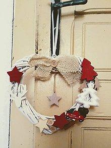 Dekorácie - Vianočný veniec - 10107279_