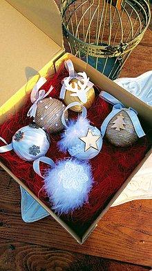 Dekorácie - Vianočná guľa - sada 6 ks - 10107434_