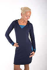 Šaty - YOU ARE THE CAPTAIN... dark blue dress - 10108073_