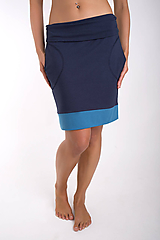 Sukne - TAKE IT EASY... dark blue skirt - 10108096_