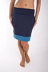 Sukne - TAKE IT EASY... dark blue skirt - 10108097_