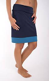 Sukne - TAKE IT EASY... dark blue skirt - 10108098_