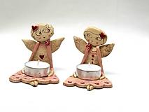anjel  svietnik ružový