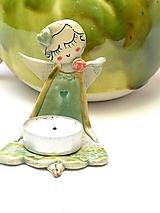 Anjel  svietnik zelený