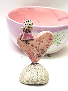 Dekorácie - anjel srdce  - 10106552_