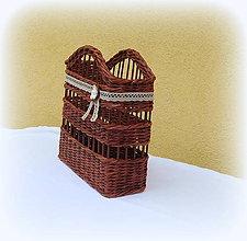 Košíky - Košík - kryt na stojan vianočného stromčeka  prieme 50 cm  (tmavo hnedý) - 10106021_