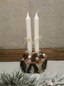 Svietidlá a sviečky - brezový svietnik - 10104472_