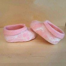 Topánočky - Vlnené plstené papučky - 10108376_