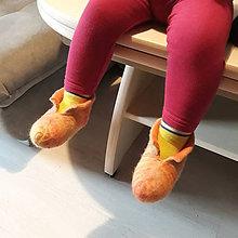 Topánočky - Vlnené plstené papučky - 10108470_