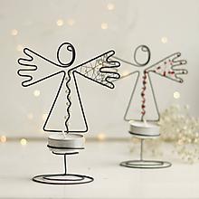 Svietidlá a sviečky - svietnik-anjelik - 10109485_