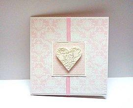Papiernictvo - Pohľadnica ... svadba ... ružová II - 10112896_