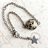 Náramky - Stainless Steel Jasper Simple Bracelet / Elegantný náramok s jaspisom z chirurgickej ocele /1146 - 10110995_