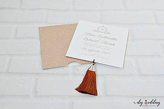 Papiernictvo - Svadobné oznámenie Tassel - 10110590_