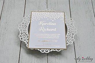 Papiernictvo - Svadobné oznámenie Všade samé bodky - 10110764_