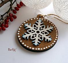 Dekorácie - Vianočná ozdoba masív 15 - 10112276_