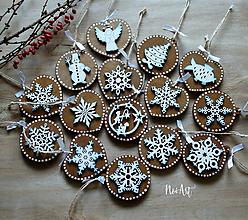 Dekorácie - Veľká vianočná sada masívnych prírodných ozdôb - 10112302_