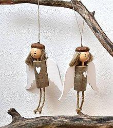 Dekorácie - Drevený anjelik - 10111207_