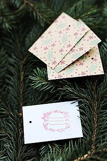 Papiernictvo - Menovky na darčeky - vianočné - 10113179_