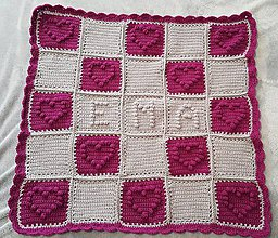 Textil - Srdce na deke aj pod ňou - 10109408_