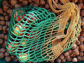 Nákupné tašky - Sieťovka v zelenom - 10109488_