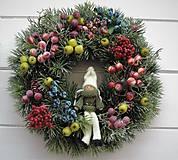 Dekorácie - Vianočný veniec - 10109923_
