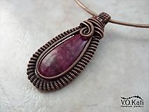 Jayna - cherry quartz, wire wrapping