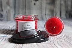 Svietidlá a sviečky - handmade sviečka vianoce v pohári - 10109973_