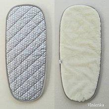 Textil - Podložka do vaničky Joolz DAY 2  a DAY 3 100% merino ELEGANT  GREY - 10112076_